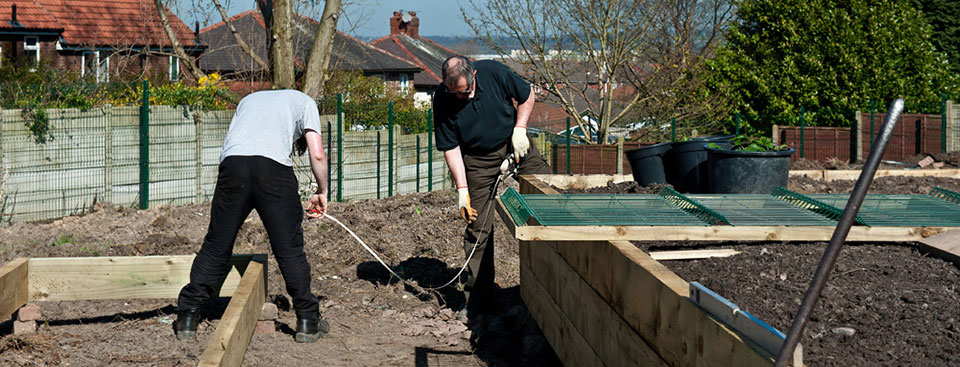 Setting up a community allotment at Worsley Hall Allotments